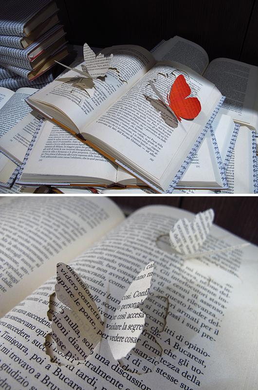 Böcker styling fjärilar