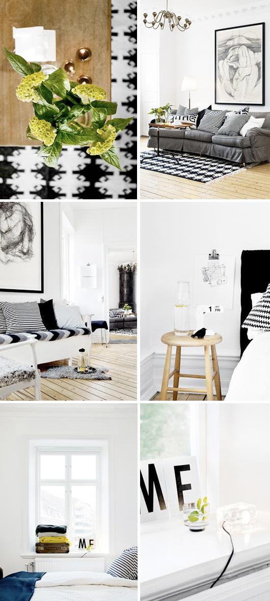 Svart vit inredning stil inspiration Louise Guts stylist Göteborg
