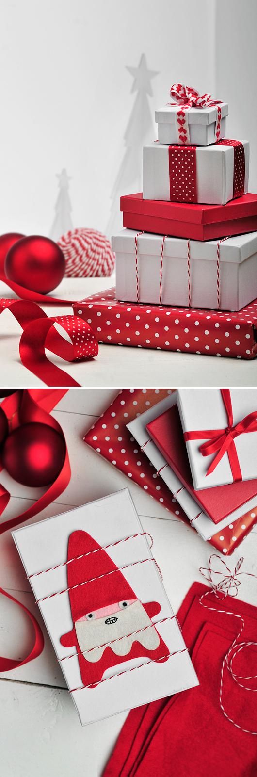 Julklappsinslagning inspiration pyssel blogg inredningsblogg tips snygga röda paket.jpg