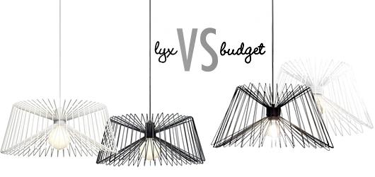 Lyx vs. budget vit bordslampa Trendenser