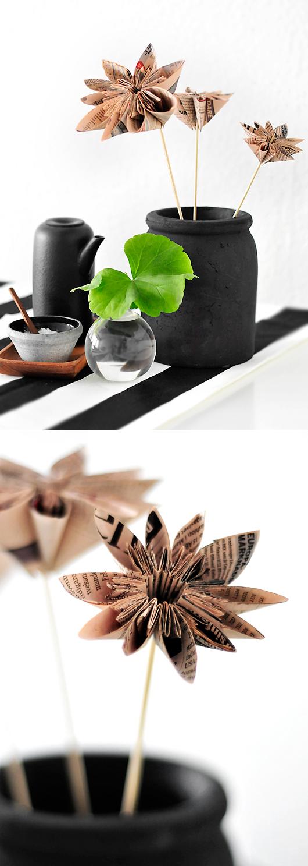Origami papperstrend inredning papper pyssel inredningsblogg dagens industri vika pappersblomma
