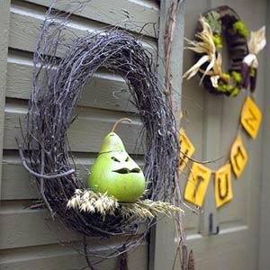 halloweenkranstilldörren