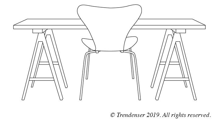 Hur många stolar ryms under (!) bordet? Trendenser