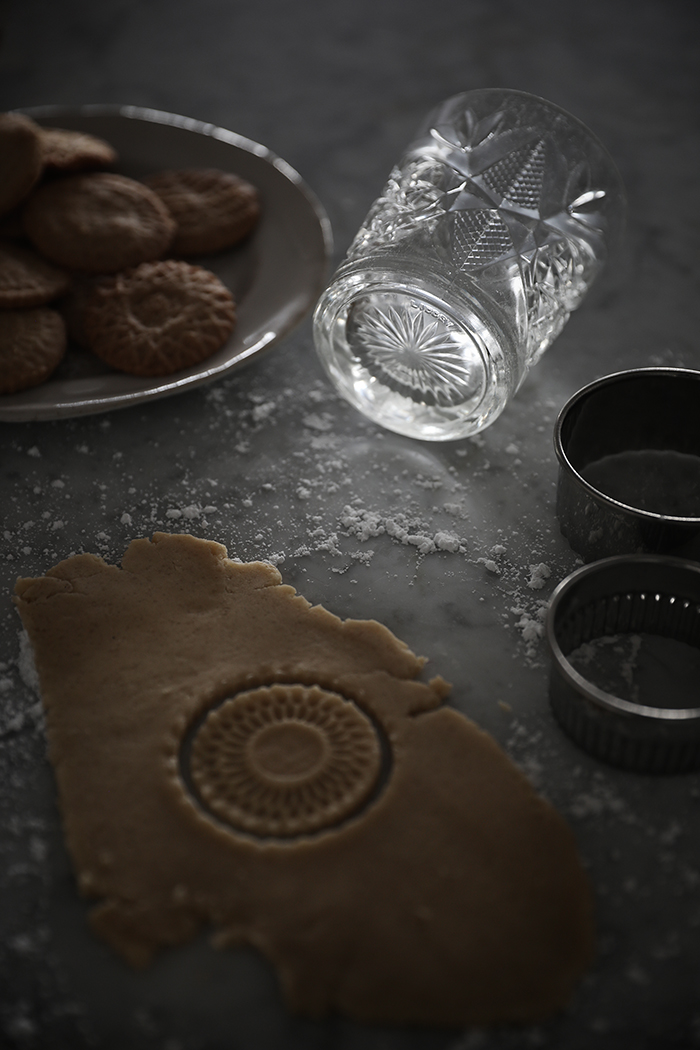 Rolled Swedish cookies stamped with the bottom of a heavy glass - Trendenser Sweden.